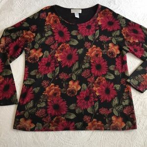 C.D. Daniels floral printed lightweight sweater 2X